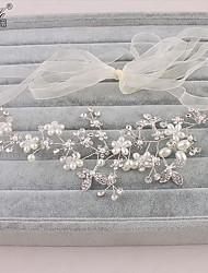 Недорогие -кристалл имитация жемчуг горный хрусталь головной убор головной убор элегантный стиль