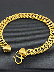 cheap -Men's 18k Gold Chain Bracelet with Dragon Christmas Gifts