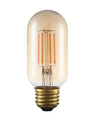 Недорогие -E26 LED лампы накаливания T 4 светодиоды COB Диммируемая Декоративная Янтарный 300lm 2200K AC 110-130V