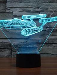 3d luz da estrela trek navio de guerra de toque colorida levou a lâmpada de visão