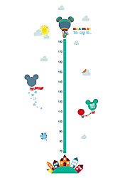 Wall Stickers Wall Decals Style Cartoon Lovely Animals Measure Your Height PVC Wall Stickers