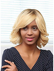 Fashion Gradient Color Curly Hair Prevailing Human Hair Wig