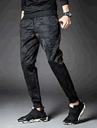 economico -Da uomo A vita medio-alta Casual Attivo Media elasticità Taglia piccola Pantaloni della tuta Pantaloni,Camouflage Cotone Per tutte le