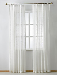 cheap -Curtains Drapes Bedroom Solid Colored Linen/Polyester Blend Jacquard
