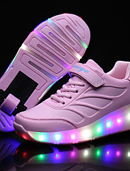 cheap -Kid Boy Girl Wheely's Roller Skate Shoes / Ultra-light Single Wheel Skating LED Light Shoes / Athletic / Casual LED Shoes