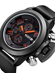 cheap -MEGIR Men's Sport Watch Fashion Watch Wrist Watch Quartz 30 m Alloy Band Analog Vintage Casual Multi-Colored - Black / Stainless Steel