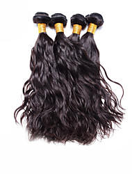 "cheap -4 Pcs Lot 12""-30"" Brazilian Natural Wave Virgin Hair Wefts Unprocessed Dark Brown Human Hair Weave  Tangle Free"