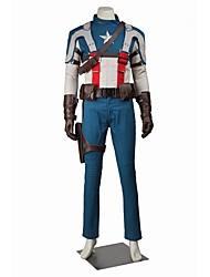 Superhéros Cosplay Costume de Cosplay Costume de Soirée Bal Masqué Pour Halloween Cosplay de Film Manteau Pantalon Gants Ceinture Chapeau