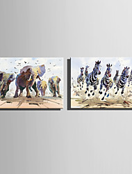 E-HOME Stretched Canvas Art Running Animals Decoration Painting One Pcs
