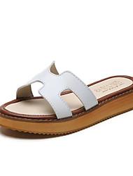 Da donna-Pantofole e infradito-Formale Casual-Comoda-Piatto-PU (Poliuretano)-Bianco Nero Giallo