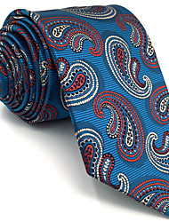 Mens Necktie Tie Blue Paisley 100% Silk Business Fashion For Men