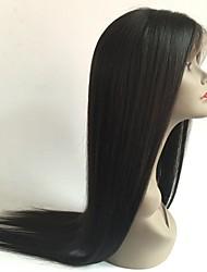оптовые от 8 до 26 дюймов девственной человеческих волос бесклеевой полный парик шнурка с волосами младенца для черной женщины шелковой