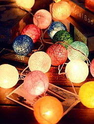 cheap -2.5M  20Leds Rattan Ball String Fairy Lights  Wedding Decoration Party Hot Use  Colorful Fairy Light Garden Decoration
