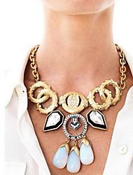 Femme Colliers chaînes Bijoux Alliage Mode Mariée Orange Bleu/Noir Rouge+Rose dragée Bijoux PourMariage Soirée Halloween Anniversaire