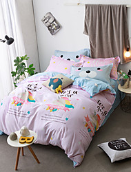 cheap -lovely bear cartoon Duvet Cover Sets 100% Cotton Bedding Set Queen/Double/Full Size