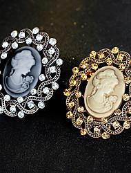 cheap -The New Retro Simple Beauty Head Brooch Classical Feminine Style