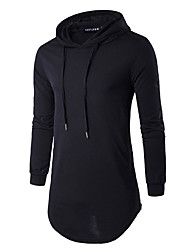 cheap -Men's Sports Weekend Slim Long Hoodie - Solid Hooded