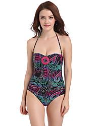 baratos -Mulheres Tamanhos Grandes Nadador Maiô - Floral, Frente Única