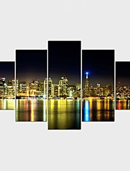 Stretched Canvas Print Landscape Still Life Modern Realism,Five Panels Canvas Any Shape Print Wall Decor For Home Decoration
