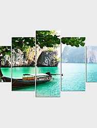 Framed Art Print Landscape Abstract Landscape Classic Pastoral,Five Panels Canvas Any Shape Print Wall Decor For Home Decoration