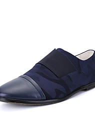 Masculino sapatos Couro Couro Ecológico Primavera Verão Outono Inverno Conforto Mocassins e Slip-Ons Caminhada Cadarço de Borracha