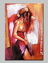 cheap -Hand-Painted Beautiful Woman Oil Painting On Canvas Modern Abstract Wall Art Picture For Home Decoration Ready To Hang