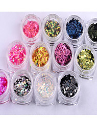 abordables -12 Manucure Dé oration strass Perles Maquillage cosmétique Nail Art Design