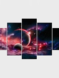 Stretched Canvas Print Landscape Fantasy Modern ClassicFive Panels Canvas Any Shape Print Wall Decor For Home Decoration