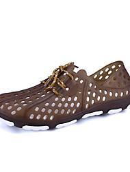preiswerte -Herren Schuhe PU Sommer Komfort Sandalen Für Grau Blau Dunkelbraun