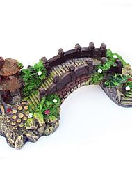aquário decoração de peixe ornamentos paisagem ponte tanque de resina de árvore pavilhão troncos Akvaryum