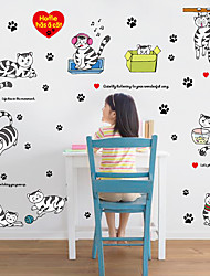 Children's Bedroom Cartoon Cats Wall Stickers Removable DIY Wardrobe Wall Decals