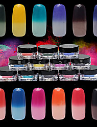economico -1g / scatola colorata d'argento laser polvere polvere polvere specchio arcobaleno chiodo scintillio cromo pigmento nail art paillettes
