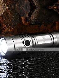 Недорогие -U'King Светодиодные фонари Светодиодная лампа Cree® XM-L T6 излучатели 2000 lm 3 Режим освещения с батареей и зарядным устройством Масштабируемые, Фокусировка, Нескользящий захват