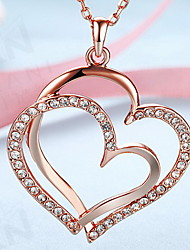 Pendant Necklaces Jewelry Heart 18K gold Alloy Love Heart European Costume Jewelry Fashion Jewelry For Daily Casual