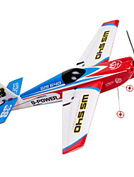 Недорогие -Планер RC 2.4G Самолет на радиоуправлении Красный Требуется некоторая сборкаПульт Yправления Летательный Aппарат лопасти USB Kабель