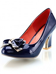 Mariage Bureau & Travail Habillé Décontracté Soirée & Evénement-Bleu Rose-Gros Talon-Confort Nouveauté-Chaussures à Talons-Cuir Verni