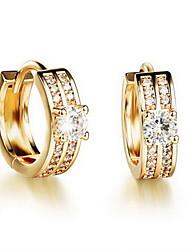 economico -Orecchini a bottone Strass Europeo Strass 18K oro Diamanti d'imitazione Lega Gioielli Quotidiano Casual