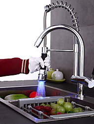 cheap -Bathroom Sink Faucet - Pre Rinse Pullout Spray Widespread Chrome Vessel Single Handle Two Holes