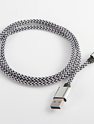cheap -USB 3.0 to Type C Braided Nylon Cable For Samsung Huawei Sony Nokia HTC Motorola LG Lenovo Xiaomi 100 cm