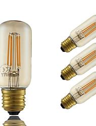 5W E26/E27 Lâmpadas de Filamento de LED T 4 leds COB Regulável Decorativa Âmbar 350lm 2200K AC 220-240V