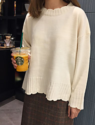 Sign Korea Korean temperament sweet girl lace sleeve head bottoming sweater female autumn and winter female student