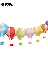 12'' 30cm Rainbow Hot Air Balloon Paper Lantern Kids Birthday Party Wedding Decoration