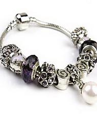 Da donna Bracciali a catena e maglie Cristallo Cristallo imitazione diamante Lega Natura Di tendenza Rotondo Ancora Viola Gioielli 1 pezzo