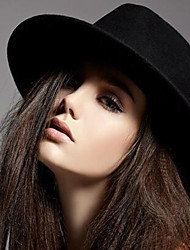 Women's Wool Crushable Black Fedora Sun Hat Jazz Hats