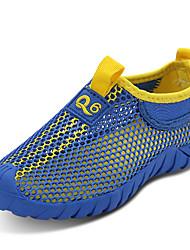 Недорогие -Мальчики обувь Тюль Весна Лето Осень Удобная обувь Мокасины и Свитер Для прогулок В клетку для Повседневные Зеленый Синий