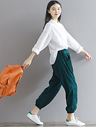 Sign open-air cafes / Literary thin section beam corduroy trousers casual pants leg opening 17 new spring