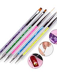 cheap -5pcs Double Head Drill Bit Pen With 5 Color Pen