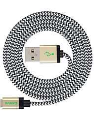 billige -Belysning USB-kabeladapter Opladerkabel Opladerledning Data & Synkronisering Kabel Flettet Kabel Til iPad Apple iPhone 300 cm Nylon