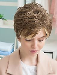nuevo patrón de color esponjosa mezcla venta de bienes peluca de cabello humano