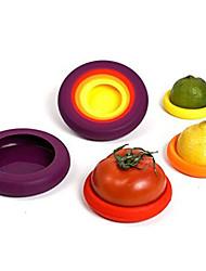 economico -4 pezzi Carota Pomodoro Peperone Coprivivande For per frutta per la verdura Silicone Ecologico Cucina creativa Gadget Originale